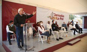 Gobernador Jaime Bonilla Valdez, fraccionamiento Margaritas, Jornada por la Paz,