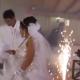 accidente, ceremonia matrimonial, boda, video viral, fuego artificales, cuetes