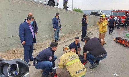 accidente, camión, bomberos, Avenida Internacional, tráfico, circulación, abierto