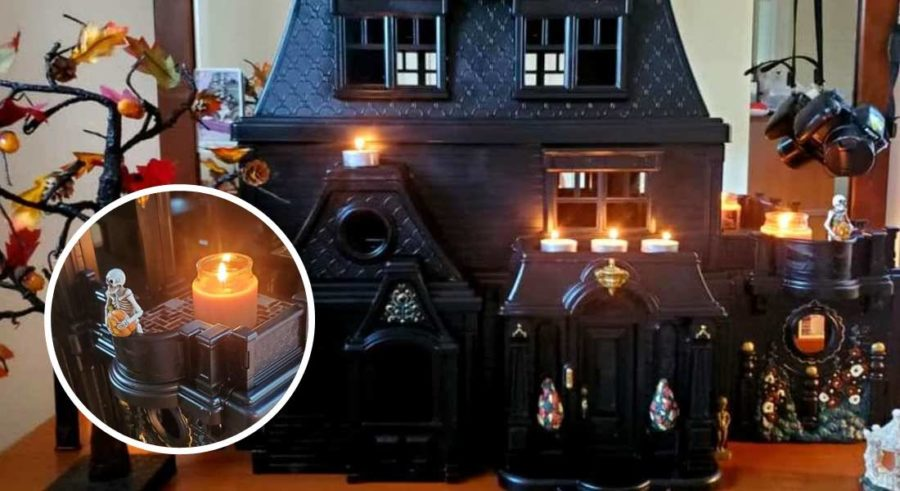 artista, casas, casa de muñeca, terror, arte