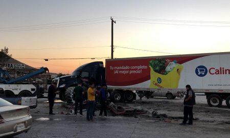 Choque, Bulevar 2000, camiones