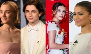 estrellas, jóvenes, Hollywood, actores, actrices, Zendaya, Millie Bobby Brown, Timothée Chalamet