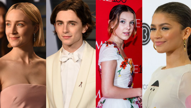 estrellas, jóvenes, Hollywood, actores, actrices, Zendaya, Millie Bobby Brown, Timothée Chalamet