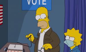 Los Simpsons, votación, Donald Trump, caricatura, política, crítica, televisión