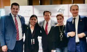 Diputada, Monserrat Caballero, diputado, Mario Degado, dirigencia, Morena