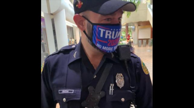 oficial, Policía, Miami, cubrebocas, Donald Trump, sanción