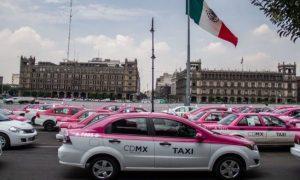 taxistas, marcha, CDMX, protesta, transporte público, transporte privado, injusticia