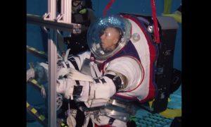 Prueba, traje, espacial, agua, espacio, NASA, NASA Johnson, video