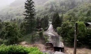 puente, colapso, luz, explosión, video viral, Francia
