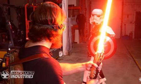 Sable de luz, sable, espada, laser, Star Wars, construyen, verdad, realidad, Hacksmith Industries