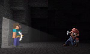 Steve, Minecraft, Smash Bros Ultimate, Mario, personaje, anuncio