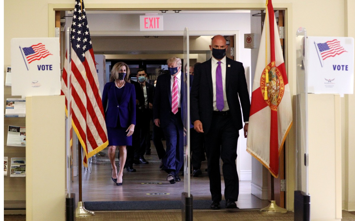 Donald Trump, votar, Florida, elecciones, EEUU, Demócrata