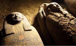 Sarcófagos, tumbas, El Cairo, Egipto