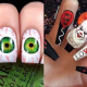 diseños, uñas, Halloween, celebración, noviembre, terror