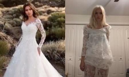 vestido, novia, internet, wish, lo viral, fraude, vestido de novia