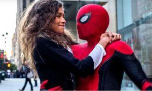Zendaya, grabación, Spider-Man, película