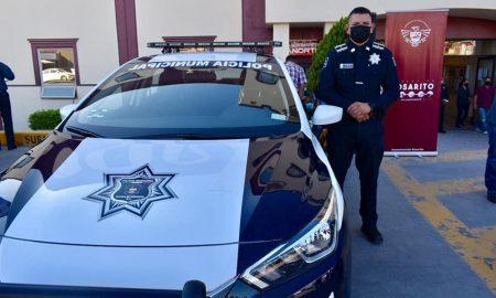 Policía Municipal de Playas de Rosarito, entrega, unidades patrullas,