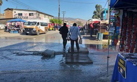Colonia Campestre Murua, derrame de agua, aguas negras, derrames aguas negras,