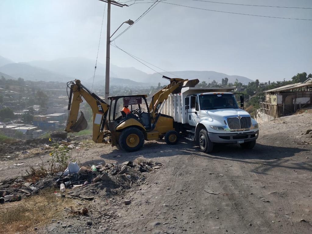 jornada de limpieza, basureros clandestinos, Delegación La Presa,