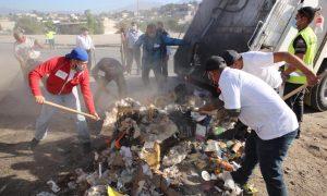 jornada de limpieza, vendedores ambulantes, Colonia Mariano Matamoros,