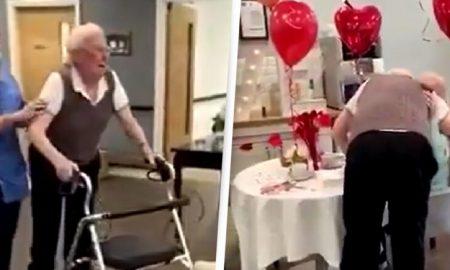 Abuela, asilo, esposo, demencia, video viral, amor, pareja