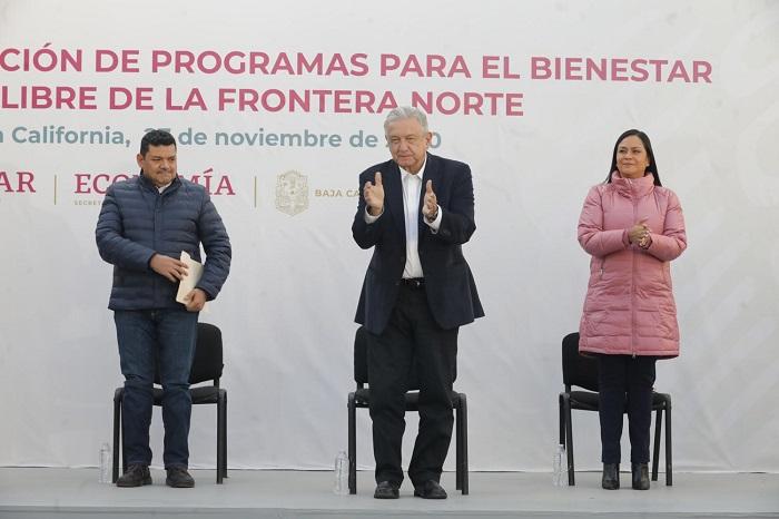 Andrés Manuel López Obrador, visita, Tecate, supervisión, obras