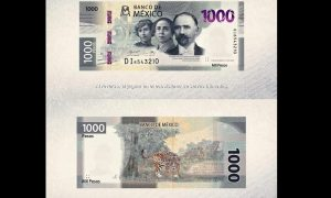 Billete, nuevo, mil pesos, 1000, Banco de México, Banxico