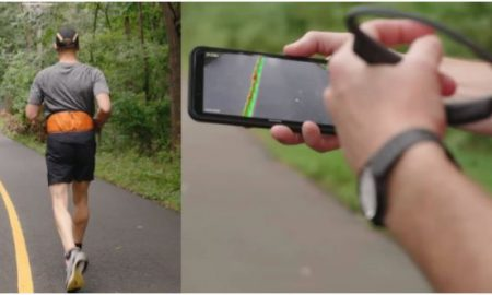 Aplicación, celular, smartphone, app, corredor, ciego, discapacidad visual