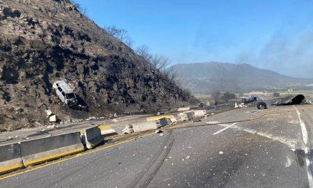 pipa de gas, carretera, explosión