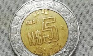 Moneda cinco pesos nuevos pesos polémica