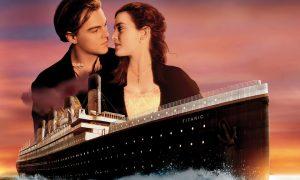 pareja, escena, Titanic