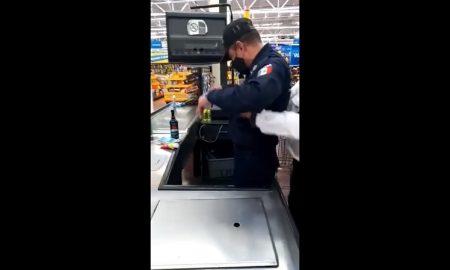 Policía, roba, supermercado, Nezahualcoyotl, Estado de México, video viral