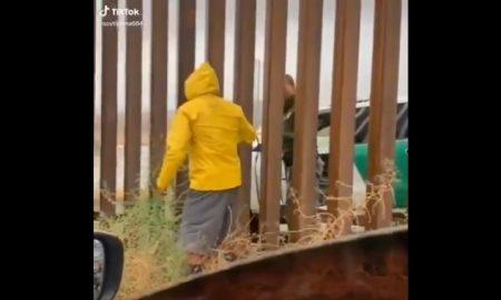 Vendedor, tamales, oficial, migración, muro, frontera, Estados Unidos, México, Tijuana, video viral