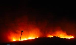 Incendios, El Sauzal, Ensenada,