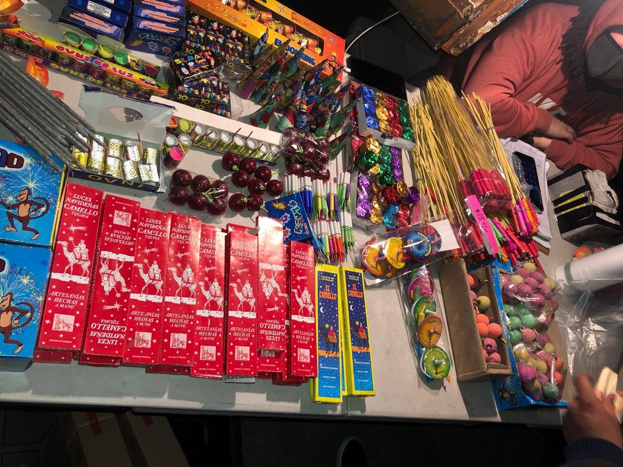 pirotecnia, decomisos, Tijuana, fiestas decembrinas