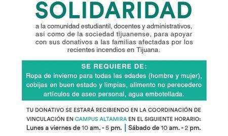 cut, solidariadad, acopio, recolección, incendios, familias