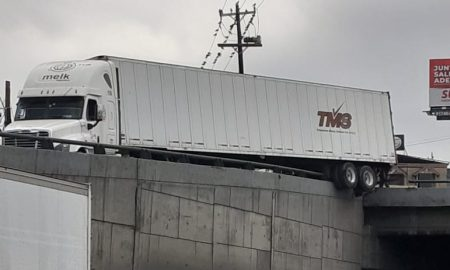 accidente, reporte, camión, puente