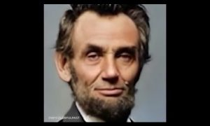 Abraham Lincoln , retrato, fotografía, recreacion, animación, vida