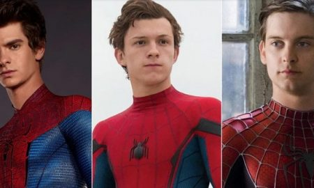 Actores, Tobey Maguire, Andrew Garfield, Tom Holland, Spider-Man, multiverso, video, Sony
