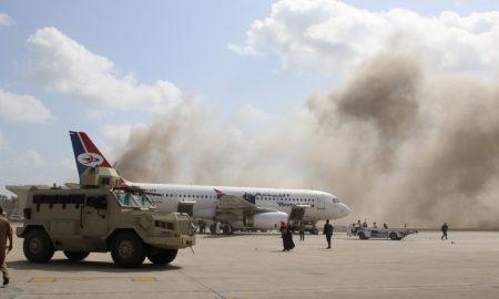aeropuerto de Adén, Yemen, nuevo gobierno, ataque