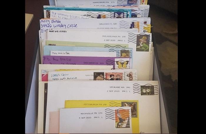 Cartas, mensaje, correspondencia, personas, unión, covid-19, coronavirus