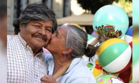 Feliz, felicidad, personas, pareja, adultos mayores, abuelos