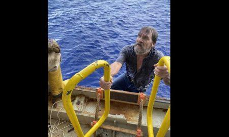 Hombre, rescate, mar
