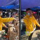 comerciante, vendedor, mercado, robado, video viral
