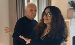 Anthony Hopkins, Salma Hayek, celebración, Oscar, mejor actor, baile, video viral